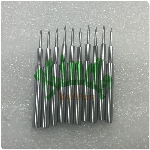 High precision carbide pilot punch pins for stamping mold parts, round carbide punch with specail front sharp point