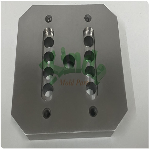 High precision stamping wire EDM square mold parts, special forming punch with thread and holes