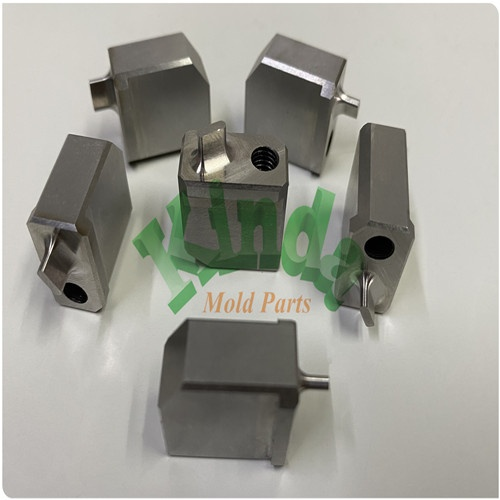 High Precision special piercing punch made in HSS material,  precision forming punch with inner thread and hole